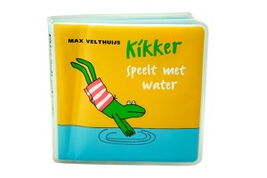 Kikker speelt met water